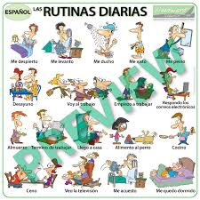 Daily Routine Chart Spanish Daily Routines Wall Charts Flash Cards