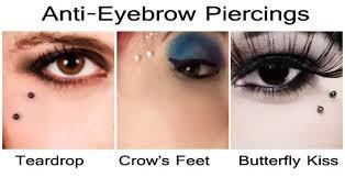 Eyebrow Piercings Vertical Horizontal Spiral Third Eye