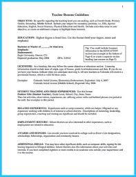 Elementary Education Resume Sample Inspiring Example Of A Teacher