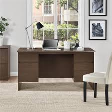 Ameriwood Furniture | Executive Desk with File Drawers, Expert Plum Finish  by Ameriwood