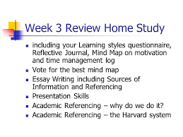week review home study including your learning styles  week 3 review home study including your learning styles questionnaire reflective journal mind map