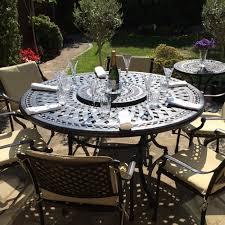 150cm round cast aluminium metal garden furniture set 144 reviews write review frances cast aluminium garden furniture 5 fantastic service and a great