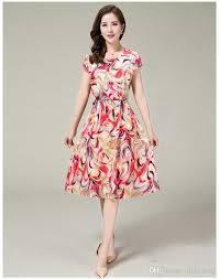 Dress Patterns For Women Interesting 48 Summer New Cotton Silk Dress In Older Women Mother Dress Xl