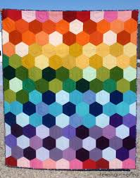 re•engineered: rainbow hexagon quilt : finished | Quilting ... & re•engineered: rainbow hexagon quilt : finished Adamdwight.com