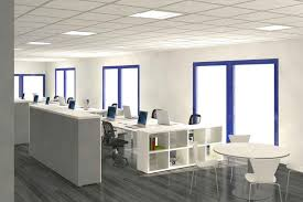 modern office spaces. Decoration, Grey Ceramic Flooring Tile White Wall Paint Decoration In Modern Office Space Design With Spaces