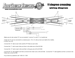 ross 11 degree crossing o gauge railroading on line forum if it works o k all your engines out the additional wiring fine imo
