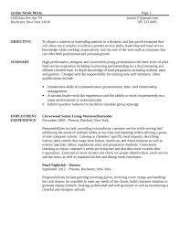 basic bartender resume templatebasic bartender resume