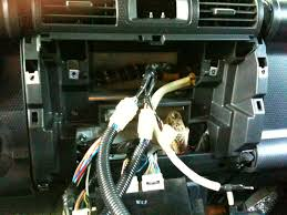 toyota fj cruiser modifications mods information sony old stereo out and new wiring harness plugged in
