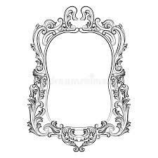 mirror frame drawing.  Drawing Baroque Rococo Mirror Frame Decor Stock Photo Throughout Drawing R