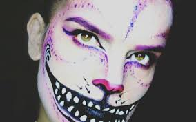 cheshire cat makeup tim burton inspired sy with cat makeup