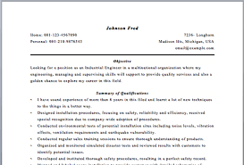 Resume Of Industrial Engineer Resume Industrial Engineer April