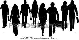 Business People Walking Away Stock Illustration
