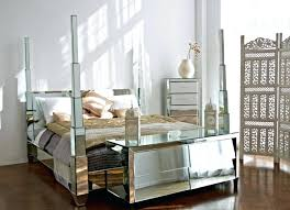 glass bedroom set engaging black