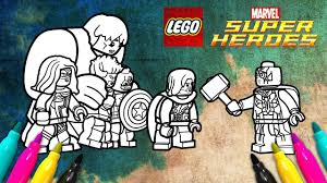 Lego Superheroes 2 Avengers Coloring Page Marvel Movie Scene Youtube