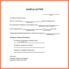Verification Letter From Employer Wage Verification Letter Mymuso Co