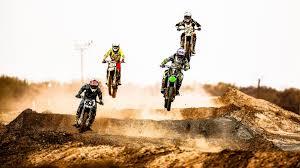 Motocross Rennen Springen Staub Wüste 1920x1200 Hd