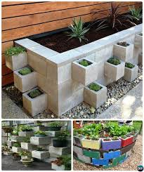 diy cinder block raised garden box 10 simple cinder block garden projects