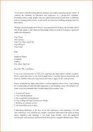 Cover Letter Examples For Students In High School Resume Cover