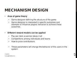 Mechanism Design Theory Mechanism Design Area Of