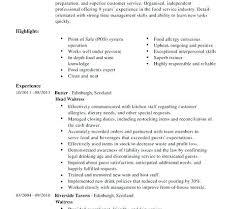 Waiter Resume Samples Paper Paper Hospitality Waiter Resume ...