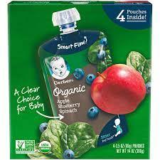 Cách sử dụng trái cây nghiền Gerber dạng túi bổ sung chất xơ cho bé