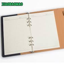 Sale A5 Storage 3 Fold Loose Leaf Spiral Notebooks
