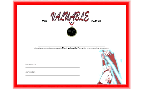 Award Certificate Template Free Volleyball Award Certificate Template Free Templates Printable Best