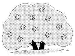桜の木のイラスト白黒 無料イラストサイトイラぽん