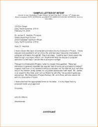 Graduate School Letter Of Intent Template New Job Letter Intent