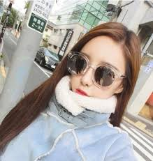 korean female hipster glasses round face 2016 star sunglasses sunglasses woman myopia bright reflect