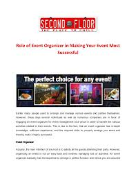 Role Of Event Organizer In Making Your Event Most Successful