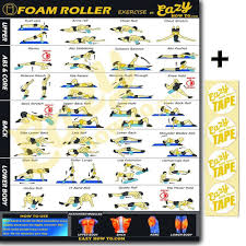 Foam Roller Exercise Workout Banner Poster Big 28 X 20