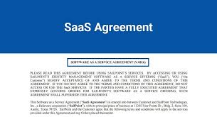 Saas Agreement - Termsfeed