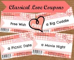 Printable Homemade Coupons Love Coupons For Him Cute Love Notes With A Twist