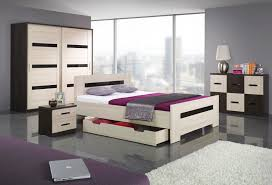 light wooden bedroom furnitures modern light. Modern Bedroom With Gray Wall Combined Light And Dark Wooden Bed Cabinetries In Crisp Look On Large Tile Floor For Queen Furniture Sets Furnitures