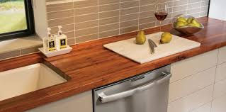 mesquite wood countertop with undermount sink
