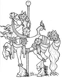 Small Picture Carousel Coloring Pages fablesfromthefriendscom