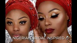 watch me transform nigerian traditional bridal makeup tutorial