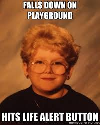 Falls down on playground Hits life alert button - 60 Year-Old Girl ... via Relatably.com