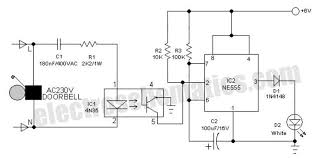 electronic doorbell light electronic doorbell light circuit schematic