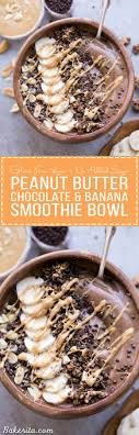 this chocolate peanut er banana smoothie bowl tastes like a peanut er cup but it s