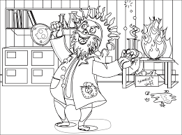 Small Picture MAD SCIENTIST COLORING PAGES Coloringpages Science Coloring Pages