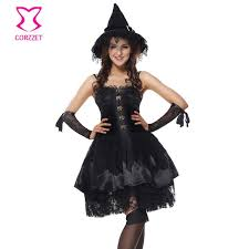 Superior Women Black Funny Naughty Magic Moment Evil Elf Witch Fancy Dress Sexy  Sorceress Costume Halloween Party Club Role Play Costumes