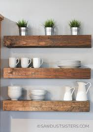 build a set of diy floating shelves for any room in your home step by