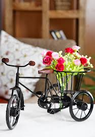 buy pindia rickshaw flower holder fancy gift item house decorative