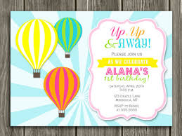 Free birthday thank you cards ~ Free birthday thank you cards ~ Printable girl hot air balloon birthday invitation kids birthday
