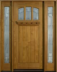 wooden front doorEntry Door inStock  Single with 2 Sidelites  Solid Wood with
