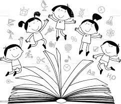 Zarysy Rysunki Dzieci Z Książek I Ikony - Stockowe grafiki wektorowe i  więcej obrazów Chłopcy - iStock