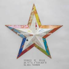 metal star wall decor: us flag design metal five star wall arts for home decor