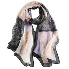 <b>Silk</b> Scarf <b>Women</b> Ladies 100% <b>Silk</b> Anti-allergy Neck Protection ...